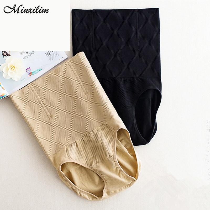Minxilim Body Shaper High Waist Sexy Lingerie Black Shapewear Summer Underwear Plus Size 4XL Butt Lift Belly Slimming Shaper  - buy with discount