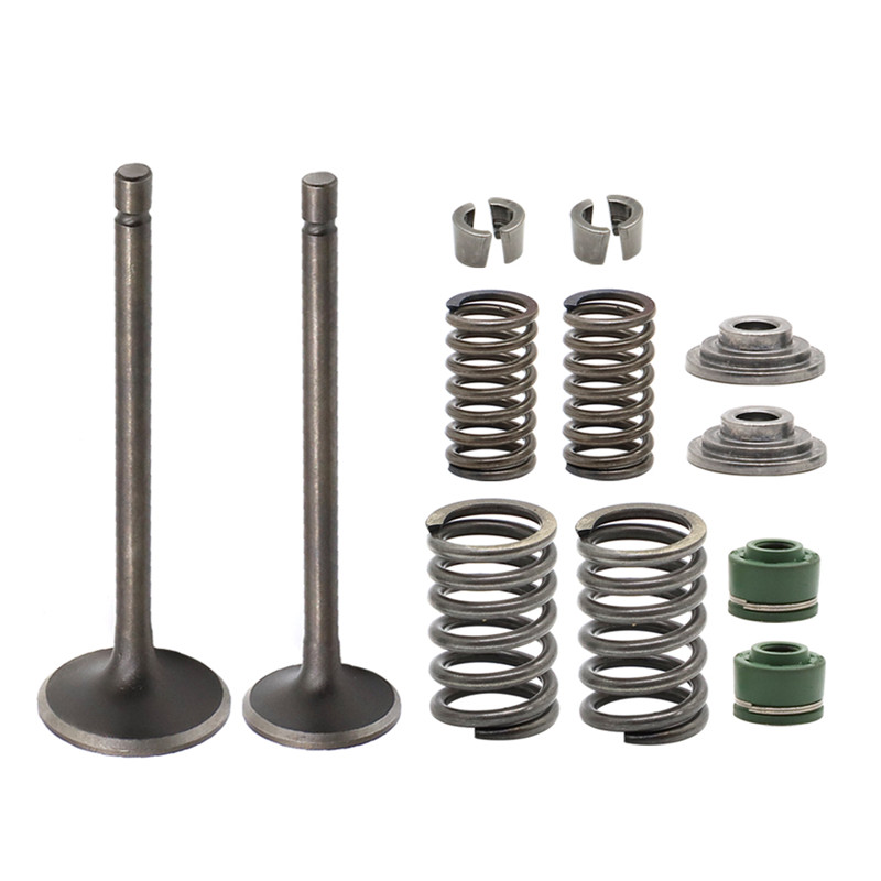 Enigine Cylinder Head Intake Exhaust Valve Kit w/ spring for <font><b>Honda</b></font> XR200R XL185S <font><b>ATC200</b></font> ATC200E ATC200ES ATC200M ATC200S ATC200X image