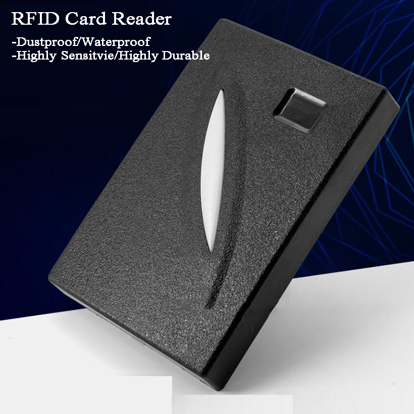 12V Outdoor RFID Reader Door Lock ID/IC Wiegand Output Factory/Building/Laboratory Suit Doorbell Intercom Gate Access Control