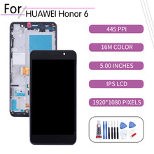 Оригинальный сенсорный ЖК-экран 5,0 дюйма для Huawei Honor6, дигитайзер в сборе для Huawei Honor6, дисплей с рамкой, искусственная фантазия
