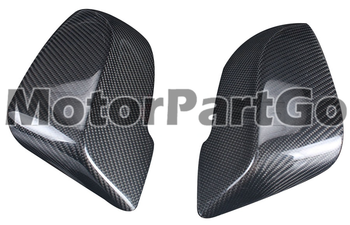 Real Crabon Fiber Mirror Cover Exchange original 1 pair for BMW 5 Series F10 F18 F07 530 535 525Li carbon fiber2014-2016 1