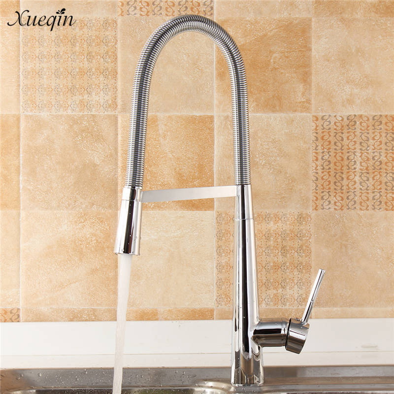 360Rotate Pull Out Sprayer Spring Kitchen Faucet Single Handle Basin Faucet Pull Down Cold And Hot Mixer Tap Deck Mount