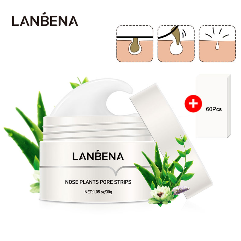 LANBENA Blackhead Remover Nose Face Mask Pore Strip Tearing Black Mask Peeling Acne Treatment Unisex Deep Cleansing Skin Care