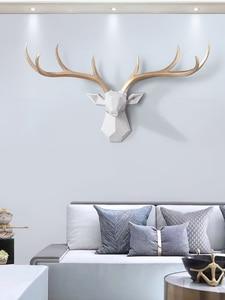 Image 1 - [MGT] Nordic Lucky Deer Head Wallแขวนสร้างสรรค์กวางกวางจี้ห้องนั่งเล่นห้องรับประทานอาหารพื้นหลังตกแต่ง