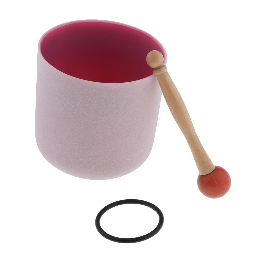 Cristal chantant bol C Note coeur Chakra 6 pouces (joint torique et maillet en caoutchouc inclus), aider les gens à méditer-4 couleurs en option
