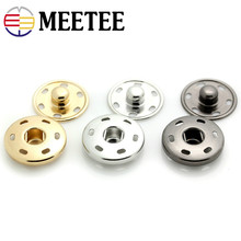 50 conjunto de 8-30mm metal imprensa botões botões scrapbooking invisível snap prendedores botão costura crianças camisa casaco acessórios