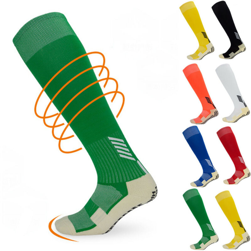 Anti-Slip Soccer Casual Sports Mens Socks Cotton Football Long Knee High Baseball Basket Adults Medium High Socks