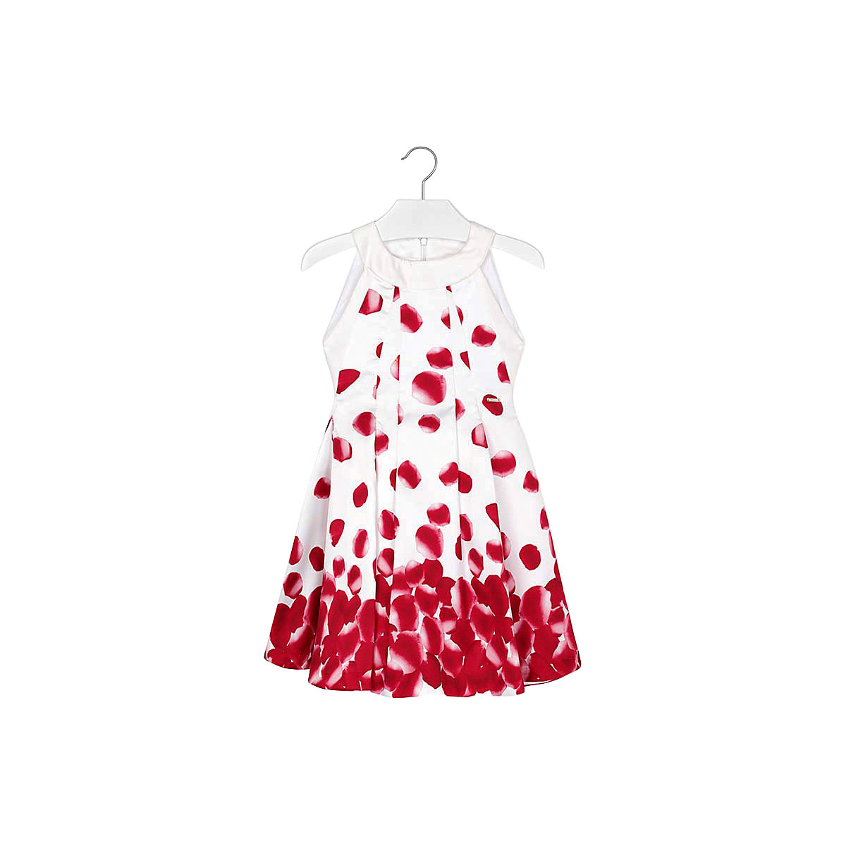 Фото - MAYORAL Dresses 10685403 Girl Children Party fitted pleated skirt Red Polyester Preppy Style Floral Knee-Length Sleeveless Sleeve box pleated floral volume skirt