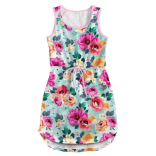 Girl Dress Party Dress Summer Kid Princess Clothes Floral Vest Dress Girls Sleeveless Birthday Dress Beach Dress Children Dress dress gaudi dress