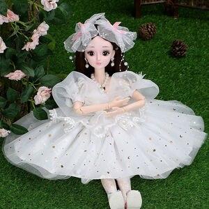 Модная Кукла 60 см, модные куклы для девочек, большая Оригинальная кукла ручной работы 1/3, полный комплект, 18 шарнирных кукол для девочек, игру...