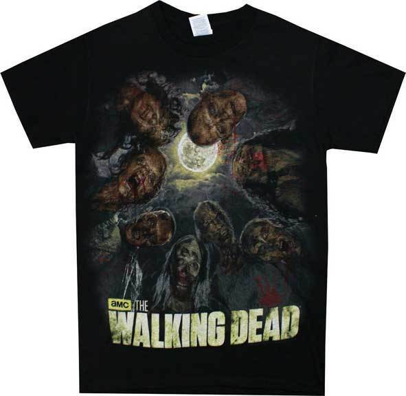 Authentic THE WALKING DEAD No Walkers Zombies Sign T-Shirt S-3XL NEW