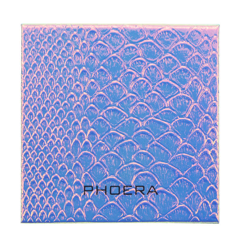 1PC PHOERA 18 Colors/9 Colors Mini Eyeshadow Fish Scale Storage Box Magnetic Attraction Storage Box Pearlescent Platte Box TSLM1