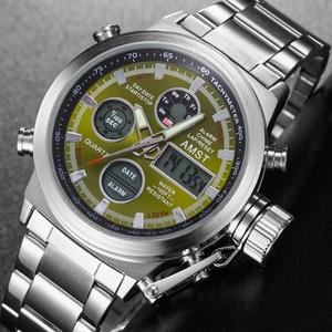 Image 2 - ใหม่ที่มีชื่อเสียงยี่ห้อผู้ชายกันน้ำเต็มรูปแบบนาฬิกาผู้ชายนาฬิกาควอตซ์นาฬิกา LED ชายกีฬานาฬิกาข้อมือนาฬิกา Relogio masculino