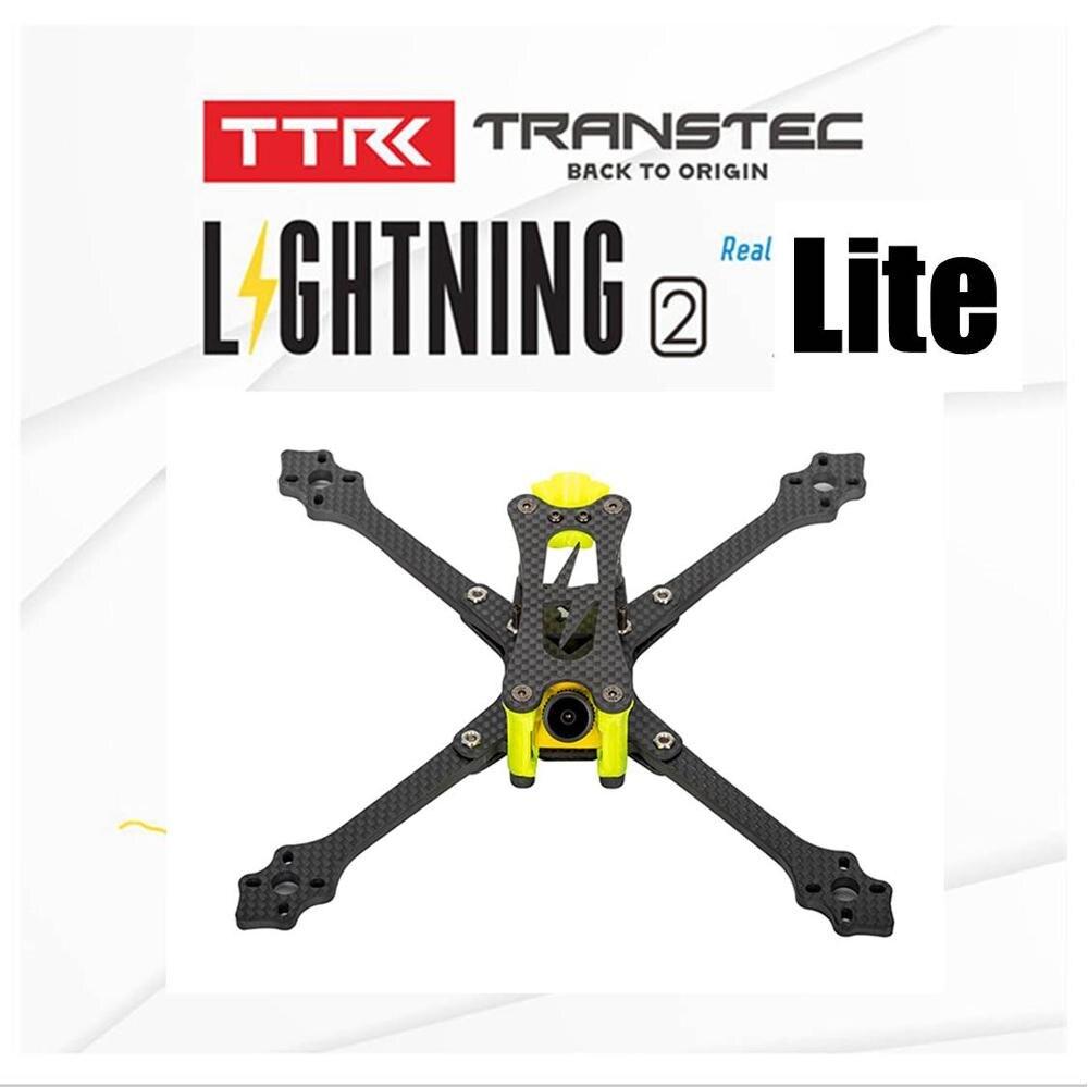 TRANSTEC Lightning 2 vrai X Lite H Brid 215mm cadre de drone de course FPV 5mm bras 7075 Kit de cadre en Fiber de carbone
