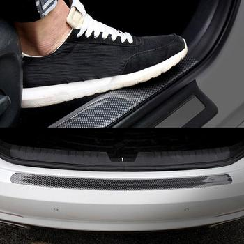 Car Vehicle Carbon Fiber Flexible Bumper Spoiler Door Sill Guard Strip Protector Car Stickers Exterior Auto Products Accesspries image