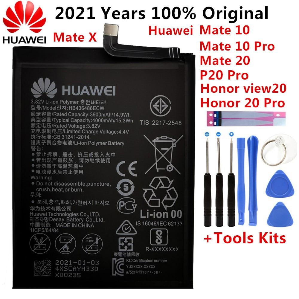 Аккумуляторная батарея Hua Wei HB436486ECW, 3900 мАч, для Huawei Mate 10 / 10 Pro Mate 20 P20 Pro Honor V20, оригинальные батареи