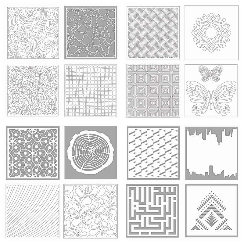 Butterfly Leaves Annual Ring Maze Background Drawing Sheet DIY Scrapbook Card Album Make Crafts New Plastic Stencil 10