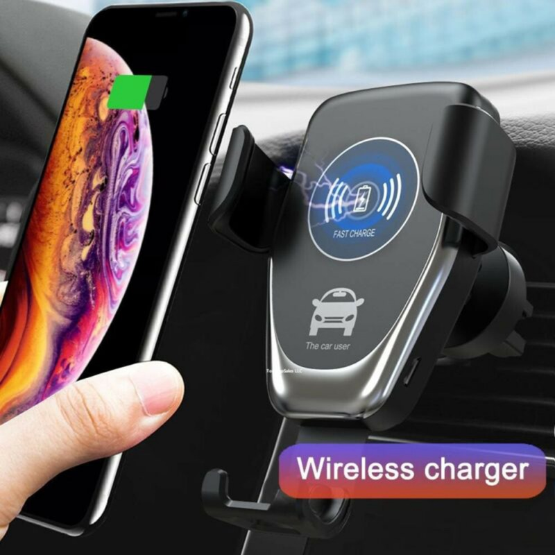 Vehicle Gravity Mobile Phone Universal Car Bracket Wireless Charger Fast Car Qi Charging Phone Holder Car For IPhone 11/11 Pro