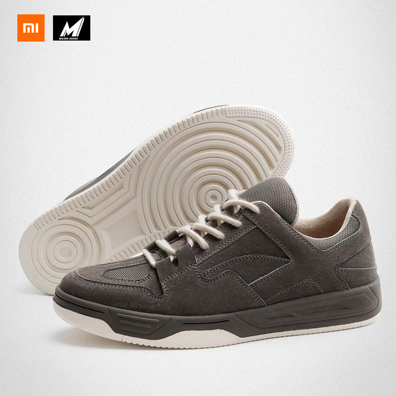 Xiaomi Mijia Leather Retro Casual Men's Shoes Leather Stitching Retro Cut Slip Wear-resistant Cork Insoles Sports Outdoor Gifts