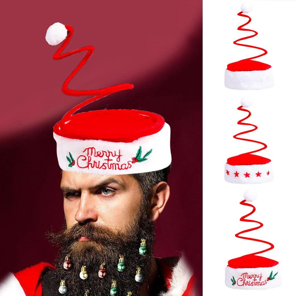 Christmas Beanie 2020 Winter Hat Children's Adult Hat Spring Cap Funny Party Santa Costume Bonnet Beanie Hat Muts Czapka Zimowa