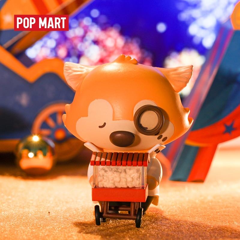 POP MART Okluna Goobi Lil' Fox Dream Circus  Series Blind Box Doll Binary Action Figure Birthday Gift Kid Toy Animal Story Toys