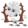 Besegad, игрушки для Хэллоуина, паук на паутине, в том числе паук и пауки 16 шт., товары для Хэллоуина
