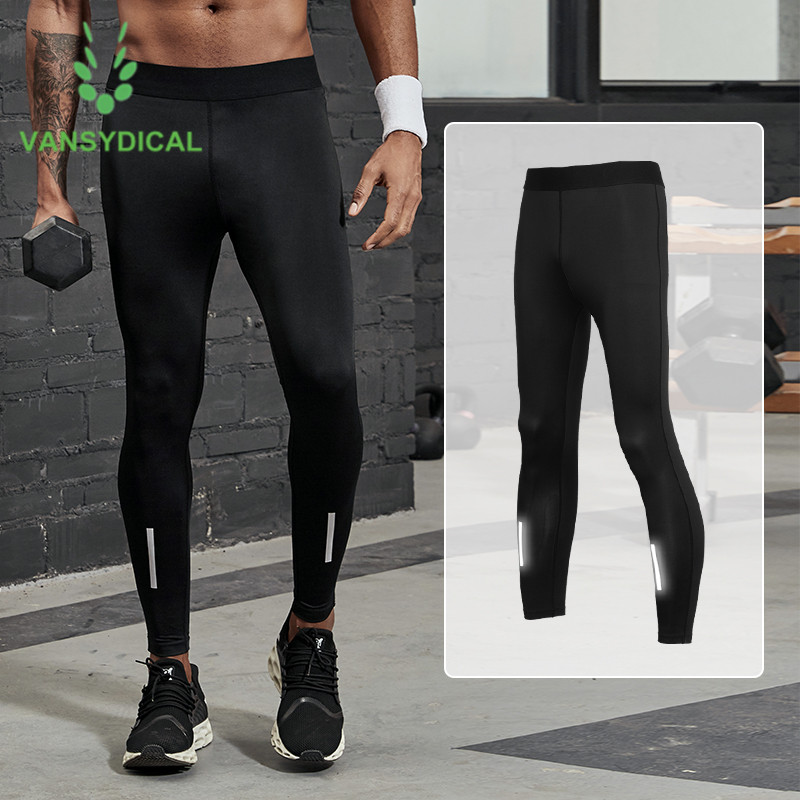 Mens Compression Baselayers Long Pants Gym Running Workout Sports Quick Drying