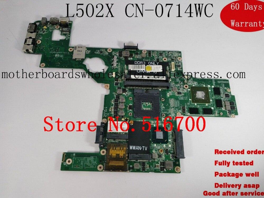 Placa для Dell XPS L502X материнская плата w/GT540M 2G DAGM6CMB8D0 714WC CN-0714WC