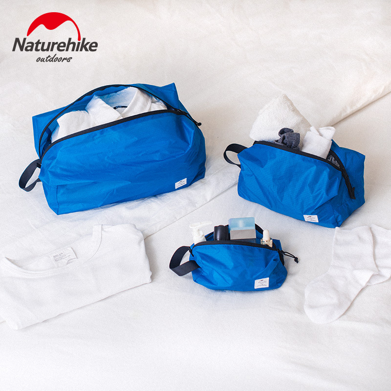 Naturehike 3 In 1 Travel Storage Bag 78g Clothes Bag Foldable Pouch Travel Multi-function Waterproof Baggage Sorting Bag