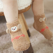 Baby Boys Girls Cartoon 3D Animal Socks Toddler Kids Anti-Slip Knitted Warm Socks Spring Autumn Winter Shoes Boots 0-3Year(China)