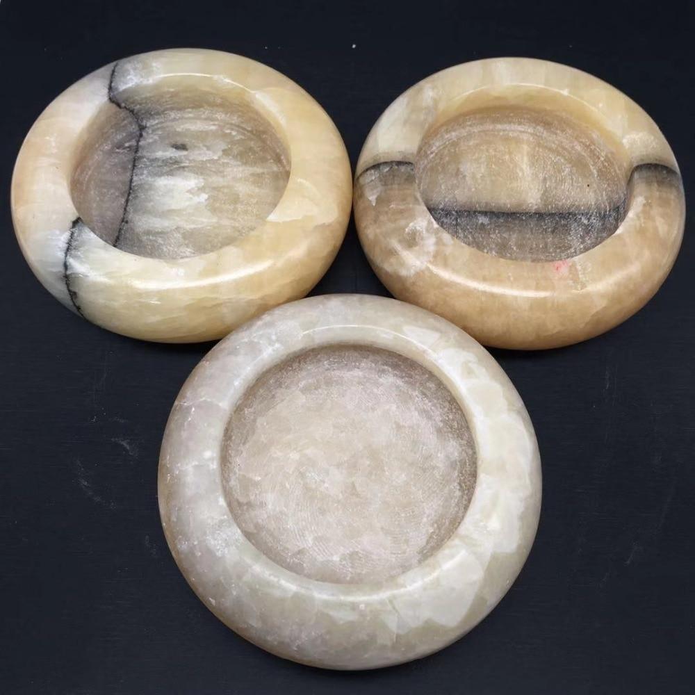 Yellow jade ashtray (2)