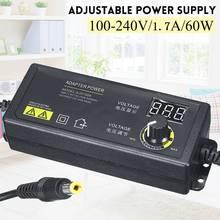 Adaptador de fuente de alimentación ajustable para monitores LCD, 60/120W, DC3V 36V, 2.5A, 60W/120W, AC/DC