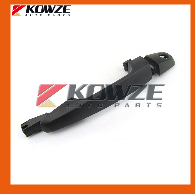 One Set Texture Black Exterior Rear Door Outside Handle For Mitsubishi Pickup Triton L200 KB4T KB8T Sport Challenger KH6W image