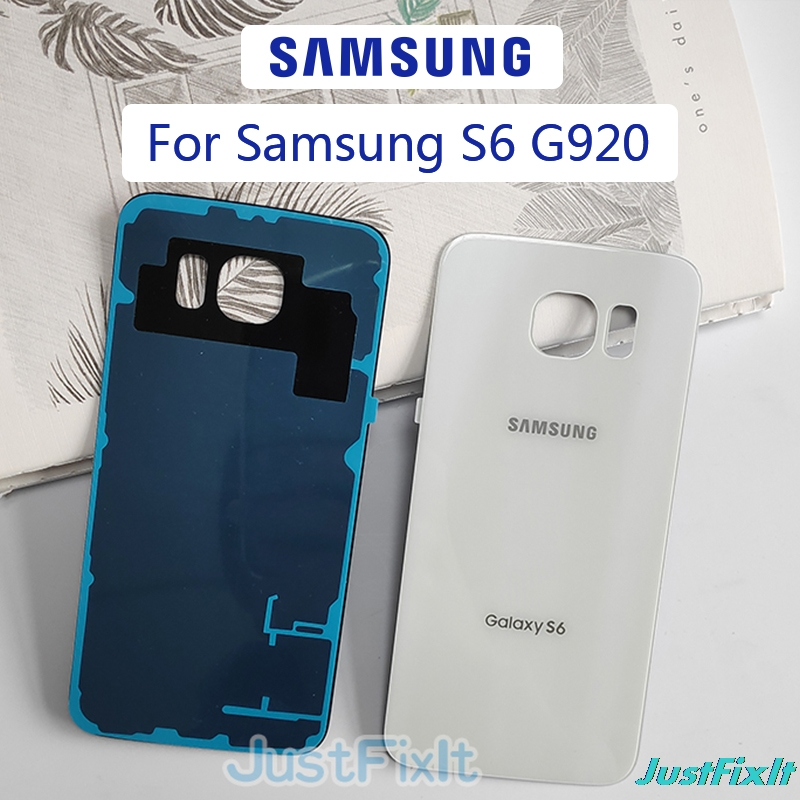 For <font><b>SAMSUNG</b></font> <font><b>Galaxy</b></font> <font><b>S6</b></font> G920 G920F Back Battery Cover Door Rear <font><b>Glass</b></font> Housing Case <font><b>Replace</b></font> Battery Cover image