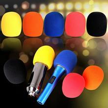 Многоразовый утолщение микрофон губка крышка пена шарообразный микрофон ветровое стекло 5 цвета KTV DJ ветрозащитный моющийся микрофон рукав