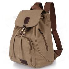 Women Canvas Backpack Female Vintage Pure Cotton Travel Bag Fashion Drawstring Laptop School Bags Shoulder Bag For Teenage Girls