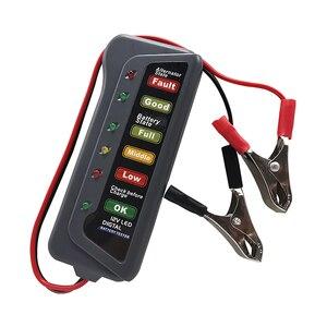 Image 4 - Mini 12 فولت سيارة جهاز اختبار بطارية الرقمية المولد تستر 6 LED أضواء عرض سيارة أداة تشخيص السيارات جهاز اختبار بطارية للسيارة