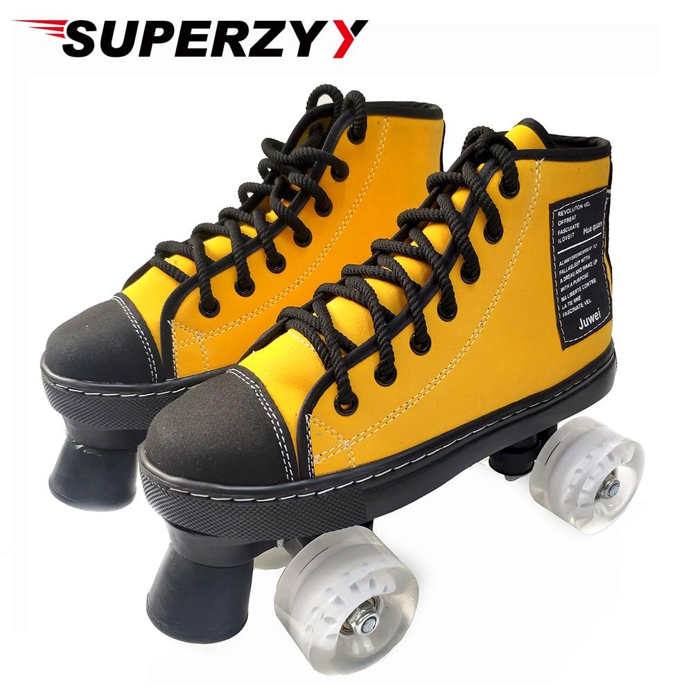 2020 Yeni Düz Rulo Ayakkabı Suni Deri Açık Paten Ayakkabı Patines Ile şeffaf Pu Tekerlekler 5 Renk Paten Paten Ayakkabıları Aliexpress