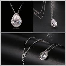 Nigerian Water Drop Cubic Zirconia Jewelry Set