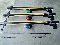 Pesca professionale Slingshot Caccia Catapulta Fucile Inox Slingshot con la Pesca Frecce e Bobina di Pesca Esterna Caccia