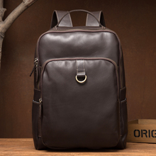 Genuine Leather Backpack Mens Designer Handmade Vintage Rucksack Laptop Male Weekend Travle DayBag
