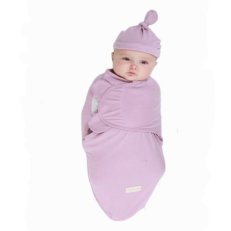 Novorojenček zavijte zavitje in klobuk bombaž dojenček prejme - Posteljnina - Fotografija 2