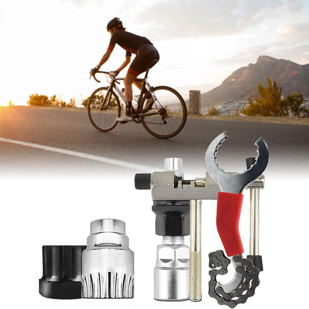 Bicycle Accessories Emergency Repair Tool Set Portable Kit Set Chain Whip Rivet Extractor Crank Remover for MTB/RB|Bicycle Repair Tools| |  - title=