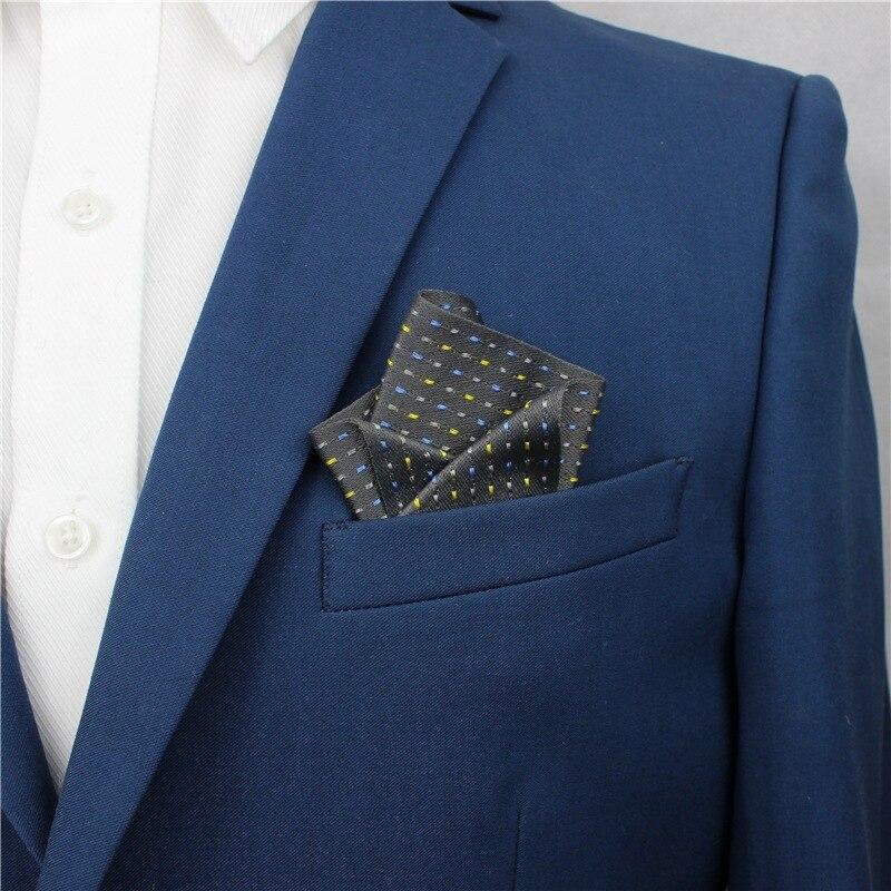 Elegant French Men Women Fabric Jacquard Brooch Pin Pocket Square Groom Wedding Party Chest Towel Hankies Banquet Handkerchiefs