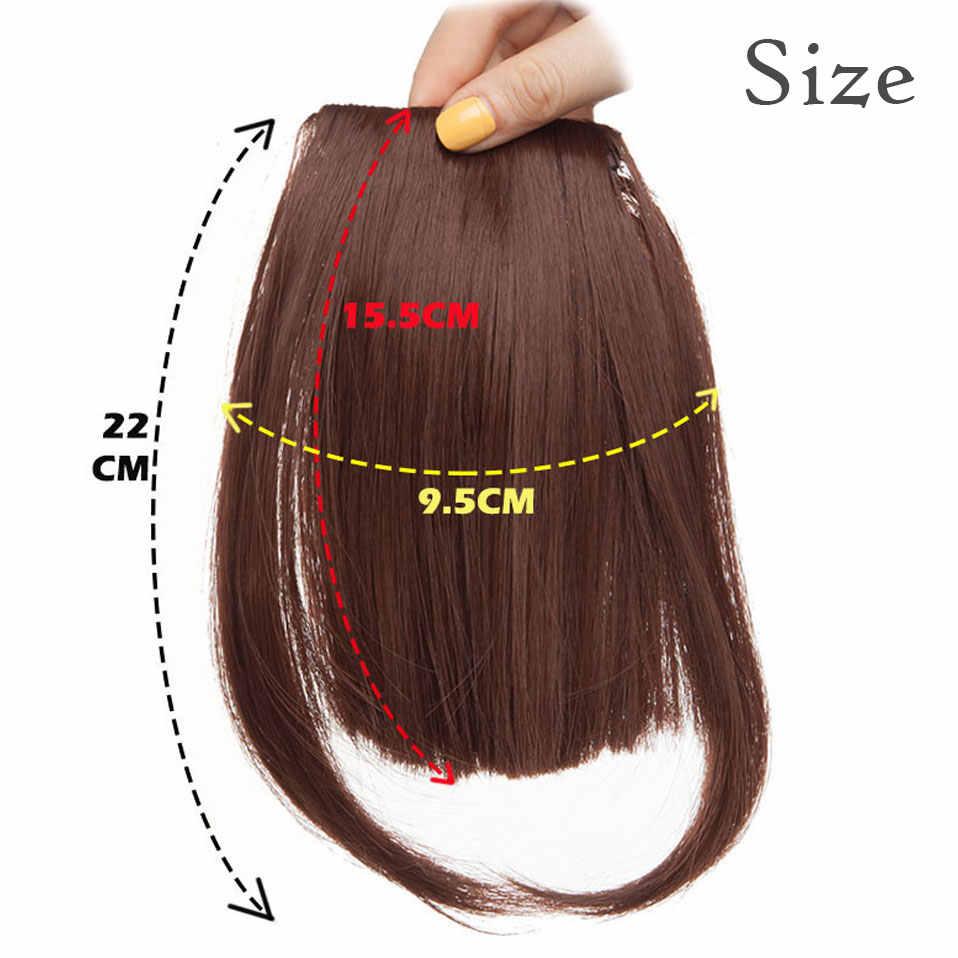 S-noilite Natürliche Bang Falsche Haar Pony schwarz braun auburn red Clip In auf Synthetische Haar Fringe clip in bangds für frauen