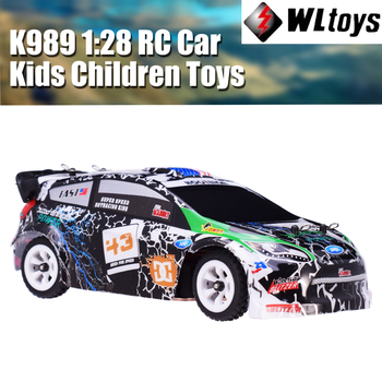 цена на Wltoys 4WD K989 RC Car 1:28 Four-wheel Drive Off-road 2.4G Remote Control Alloy Chassis 30km High-speed Kids Children Toys