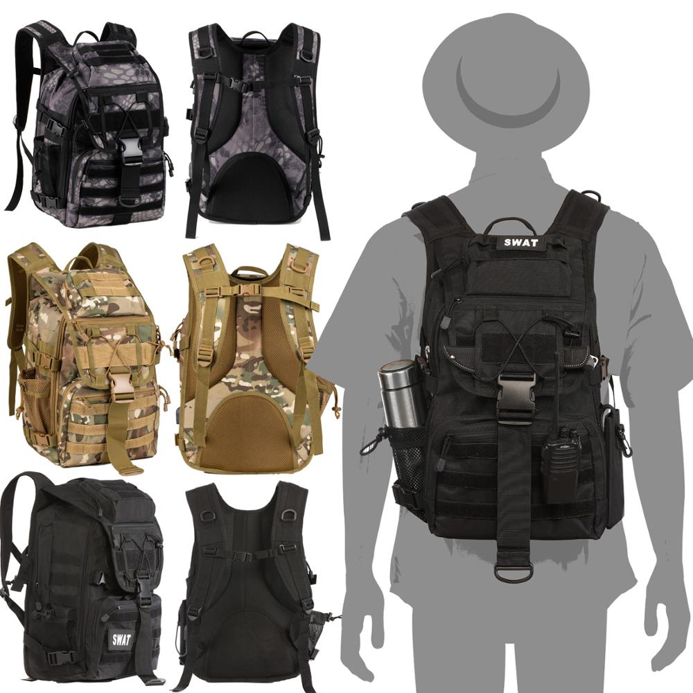 Military Tactical Backpack Men's Military Camouflage Bag Outdoor Hunting Camping Bag Hiking Mountaineering Backpack