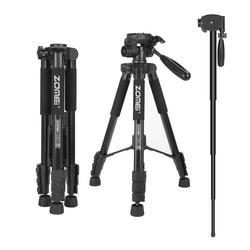 ZoMei Q222 Professional SLR DSLR Tripod Aluminum Alloy Digital Camera Monopod Portable Travel Camera Stand Ball Head