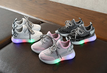 Kids Sneakers Children Light Shoes Fly Woven Breathable Sport Shoes Toddler Boy Sneakers Kids Light Up Shoes for Girl eight km boys and girls toddler kids lightweight breathable woven fabric velcro sneakers school shoes sparkling children sneaker
