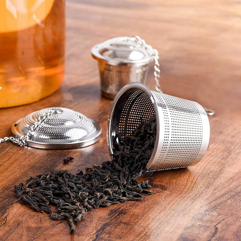 Tea Ball Infuser, 3 Pack 18/8 Stainless Steel Extra Fine Mesh Tea Strainers And Cooking Infuser, With 3 Drip Trays, Extended Cha